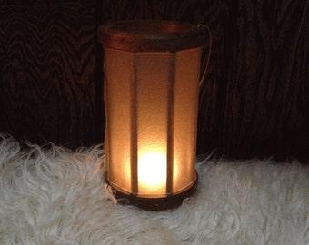 Viking Lantern~ Medieval Lantern- Viking Camp- Primitive Lantern- Medieval Camp- Wood and Velum Lantern~ Historical Re-enactment Lant
