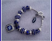 University of Kentucky Trinkette & Authentic Wildcat Charm DaVinci Bracelet Fashion Jewelry