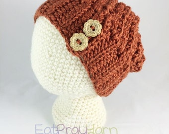 Warm Mini Slouch with Wood Buttons - Infant, Toddler, Child & Adult Sizes