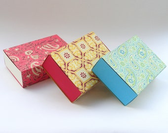Large sliding box, Chocolate box, Match box, Gift box, Packaging box, wedding favor box size 5 x 3.5 x 1.5 inches -10 Indian print match box