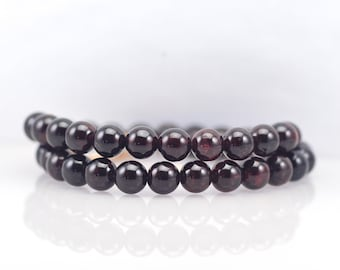 Garnet Gemstone Wrap Bracelet/ Garnet Jewelry/ January Birthstone/ January Wedding/ Burgundy Wedding/ Unique jewelry/ mothers day gift