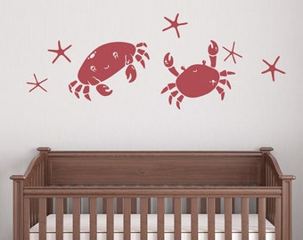 Crab Duo Wall Quote Decal