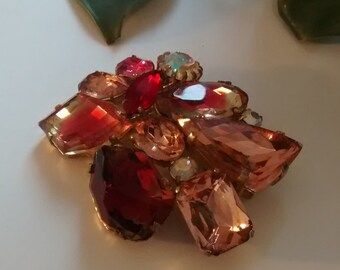Red and Pink Vintage Broach