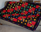 Groovy Granny granny square afghan
