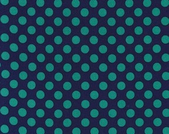 Michael Miller Fabric - 1/2 Metre Ta Dot in Midnight