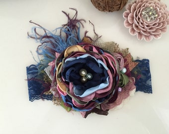 Baby Headband- Matilda Jane Headband- Blue Baby Headband- Girls Headband- Avry Couture Creations