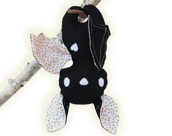 Halloween Stuffed Toys Plushie Animal Bat PDF Sewing Pattern Decoration