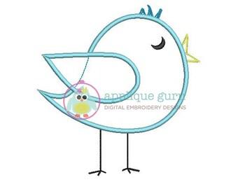 Songbird Applique Machine Embroidery Design