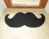 Curl mustache floor mat . Elegant doormat. Choose the color of your mat.
