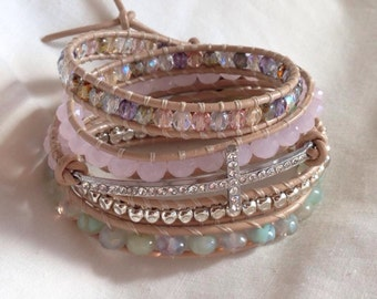 Sweet and Sparkly wrap bracelet