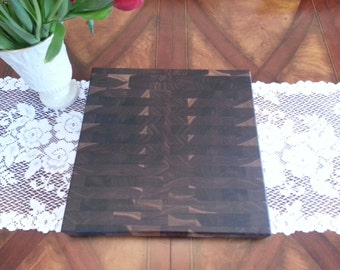 Butcher Block / Chopping Block / Cutting Board, Black Walnut End Grain