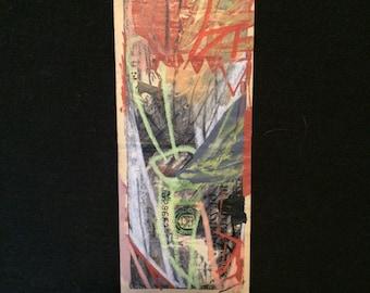 Mixed Media Artwork on a US Ten Dollar Bill by Jay Zerbe