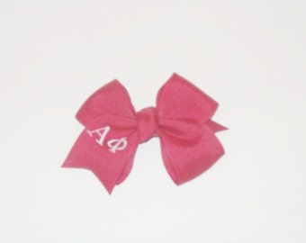 Sorority Hair Bow, Monogrammed Hair Bow, Girls Sorority Hair Bows, Girls Hair Bow, Hair Accessory