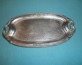 One (1), Small Oval Metal Tray, Marked: Patricia, Occupied Japan.