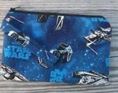 Star Wars Print Fabric, Wristlet Purse, Wristlet Clutch, Cell Phone Wristlet, Bags, Purses, Wristlet, iphone Wristlet, Gift for her