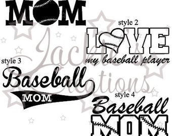 Baseball/Baseball Mom Decal