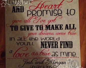 I Cross My Heart and Promise to Give All I Got To Give To Make All Your Dreams Come True... Tile