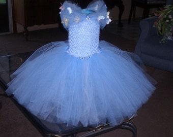 New 2015 Cinderella Ella Costume Flower Girl Tutu Dress