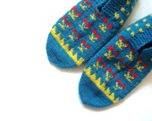 SALE womens slippers red blue-green  yellow Handmade Turkish Slippers home shoes for Women, gift for woman, hand knit slippers socks