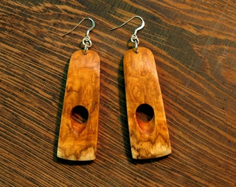 Amboyna Burl Dangle Earrings