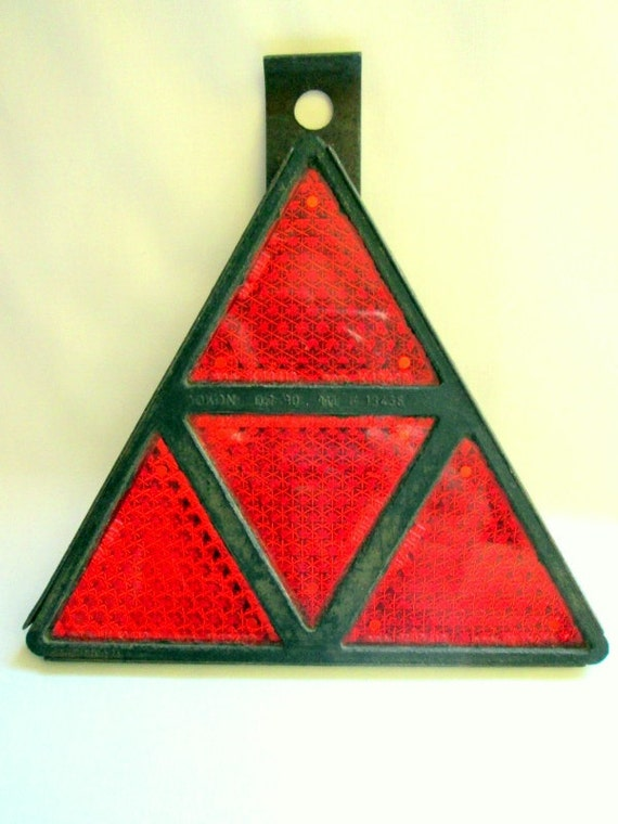Tractor Reflective Triangles : Vintage french triangle reflector bought in by avintagestore