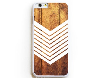 iPhone 6 Case. iPhone 6 Cases. Dark Wood Geometric White - Phone Case. iPhone Case.