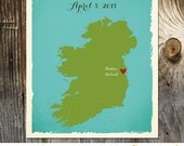 Ireland Personalized Custom Wedding Print Destination Wedding Gift Memento Marriage Couple print Signature Guest Books Wedding Signature Map
