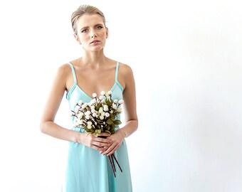 Mint maxi straps dress, Maxi mint casual dress