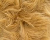 Faux/Fake Fur Luxury Shag Dark Camel 58 Inch Fabric by the Yard - 1 Yard