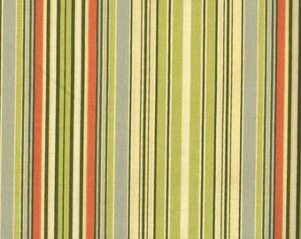 ℳ Amy Butler 100%cotton Large print designer collection 45 inches wide  Lotus AB22 OxfordStripe Green fabric by the Yard, 1 yard