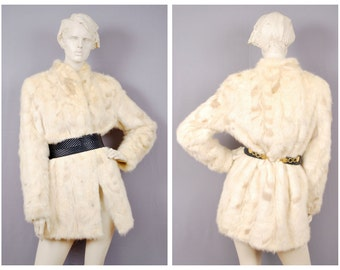 Superb Vintage Real Pearl Mink Bridal Fur Jacket