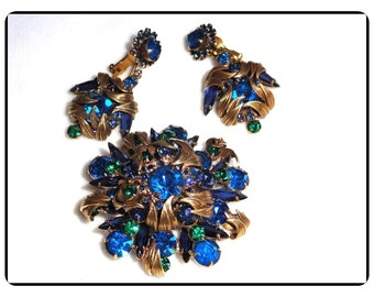 Blue Juliana Demi  - Spectacular Leaf-Over D and E Demi Tempting Colors of Blue 729a-081614045