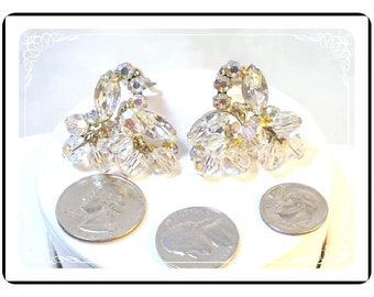 Cha Cha Juliana Earrings - Dripping AB Icy Crystals and Rhinestones D&E 074a-090412031