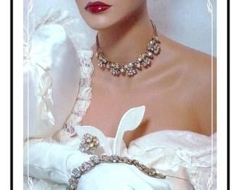 Juliana Vintage Parure - Decadent Aurora Borealis D&E   Para-500a-012808120
