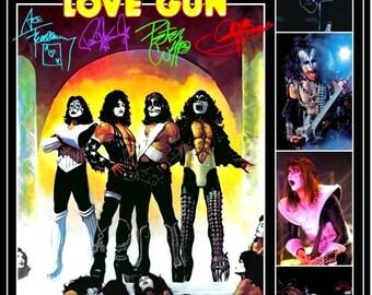 KISS Love Gun Group 1977-78 Tour Reproduction Counter Top Stand-Up Display - Collectibles Collection Collector Memorabilia Retro Gift Idea