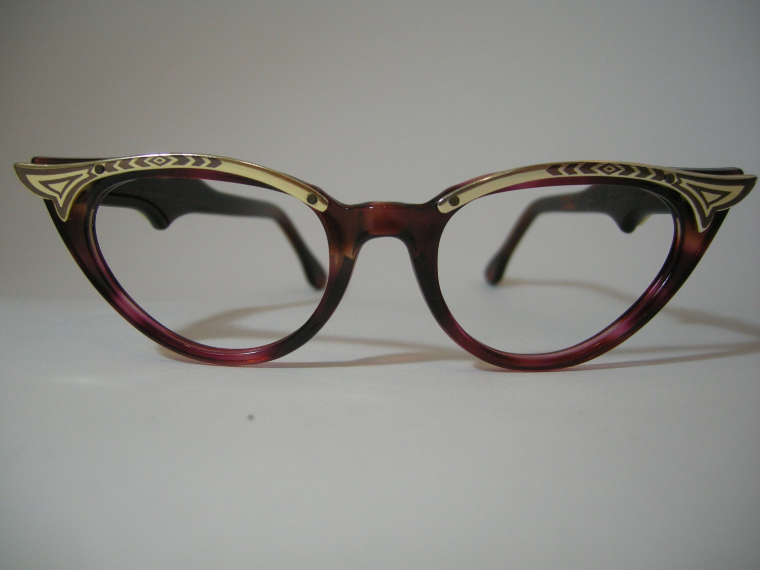 Vintage cateyes eyeglasses made in France