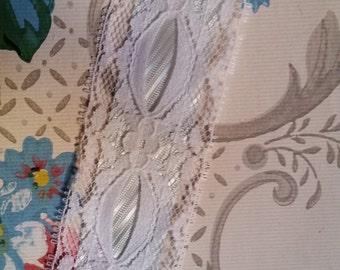 2 Yds Gorgeous Vintage Pale Blue Victorian Lace Trim | Ribbon | 1 1/2 In.