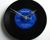 """Johnny Cash Vinyl Record CLOCK """"The Rebel"""" 7"""" single. Unique gift for Country Music fans everywhere..."""