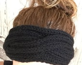 KNITTING PATTERN  Cabled Rib Headband Ear Warmer Baby to Adult Sizes Ideal for Beginners Accessory