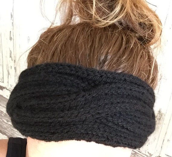 Knitting Pattern Ribbed Headband : KNITTING PATTERN Cabled Rib Headband Ear Warmer Baby to Adult
