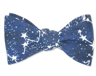 Mens Bow Tie Stars Glow In the Dark Constellations Glows Glowing Freestyle Self Tie Your Own Bowtie
