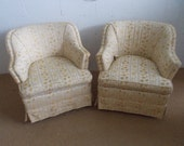 Pair of Mid Century Palm Beach Mid Century Style swivel chairs on Sale