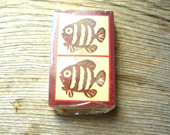 Primitive Fish Playing Cards - Fish Cards - Full Deck Cards - Deck of Cards - Vintage Playing Cards