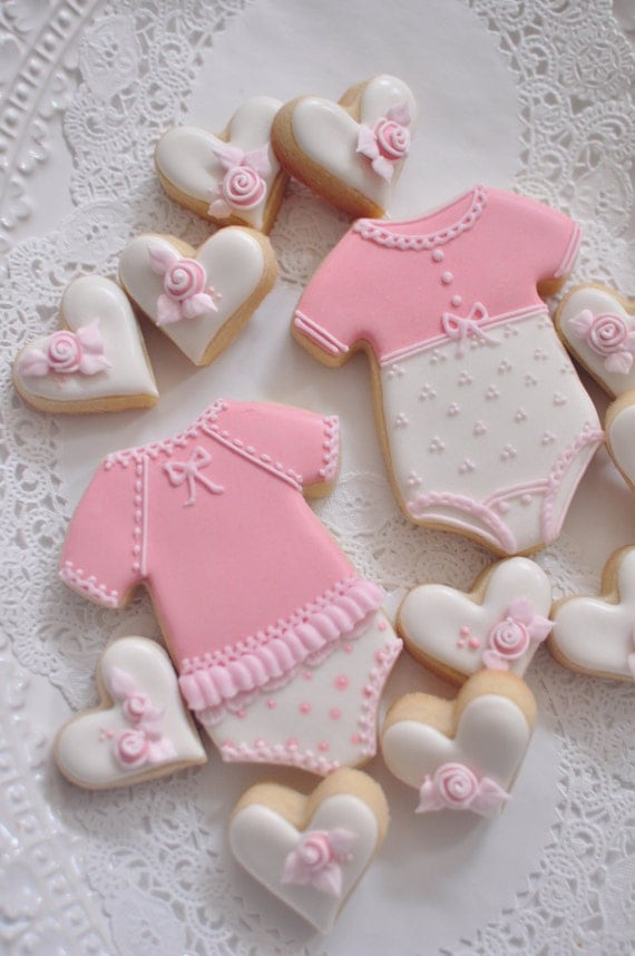 cookie favors for baby showers or birthdays baby onesie cookies
