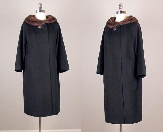 manteau vintage des ann es 1950 50 ans manteau manteau col. Black Bedroom Furniture Sets. Home Design Ideas