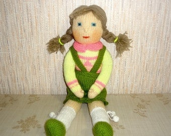 Hand Knitted doll Nastya