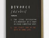 Definition of Divorce Card, Sympathy Card, Encouragement Card, Support Card / No. 231-C