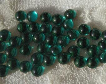Emerald Green Vintage 5MM Round Flatback Cabochons Crystal Rhinestone