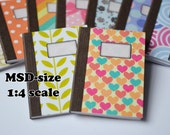 Notebooks for dolls (1:4) MSD-sized (12 Patterns)