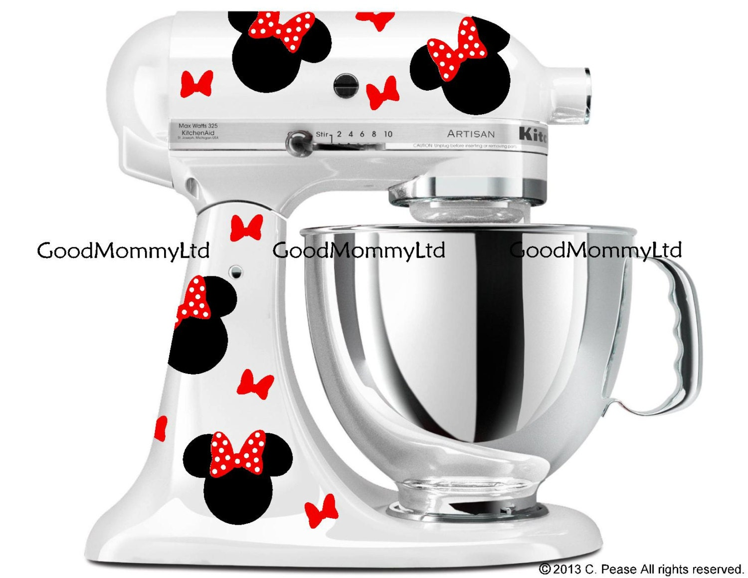 Kitchenaid Hand Mixer Decals ~ Minnie mouse inspired decal kit for mickey fans